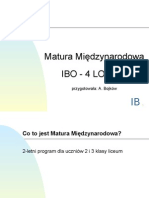 Prezentacja IB 4 LO