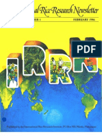 International Rice Research Newsletter Vol.11 No.1