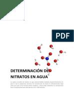 Instrumental Nitratos en Agua