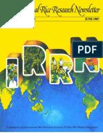 International Rice Research Newsletter Vol12 No.3
