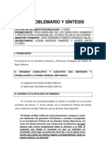 Problemario y Síntesis del caso de Baja California