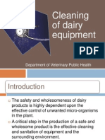 Cleaning of Dairy Equipment