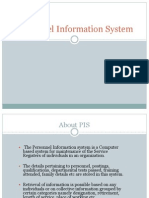 Personnel Information System