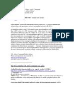 AFRICOM Related News Clips 26 September  2011