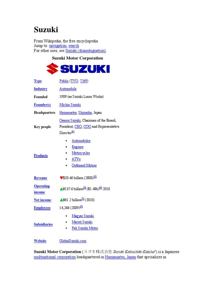 Suzuki Motor Vehicle Manufacturers Of Japan Cars Wiring Diagram Hyundai Santro India