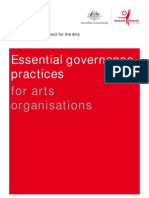 Essential Governance Practices for Arts Organisations
