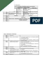 FLINKMAN Draft Schedule