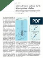 Kernwaffentests weltweit durch Seismographie erfaßbar, P.i.u.Z. (1988)