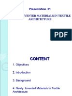 NEWLY  INVENTED MATERIALS IN TEXTILE ARCHITECTURE
