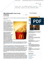 Why McDonald's Wins in Any Economy - Fortune Management