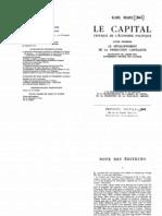 Marx Le Capitale 1875 I