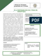 Seminario A Coruña Responsabilidades Civil y Penal Asesor Fiscal