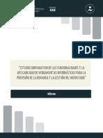 Informe estudio comparativo de las funcionalidades y la aplicabilidad de herramientas informáticas...