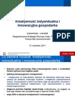Innowacyjnosc - Warsztat 21 wrzesnia 2011