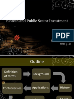 Biotech and Public Sector Investment