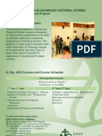 ATS Graduate Diploma in Advanced Pastoral Studies (G.Dip. APS)