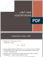 Limit Dan Kekontinuan