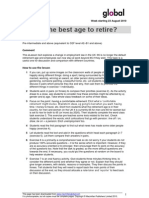 Best Age to Retire Vocabulary