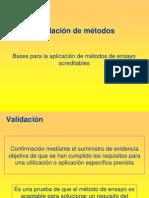 Validación de métodos