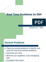 Real Time Problems in ERP
