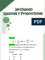 Ejercicios de Razones y Proporciones