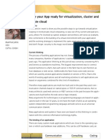 White Paper Make Your App Ready for Virtualization Cluster and Private Cloud