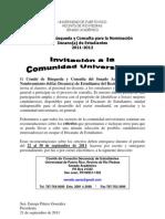 Comité de Búsqueda y Consulta Decanato de Estudiantes - Anuncio 1 Criterios