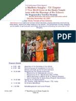 Vms TX Sa 3rd Metilotsava 10 Nov 2007 Program Schedule