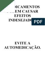EVITE AUTOMEDICAÇAO