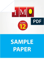 Class 12 Imo 3 Years Sample Paper