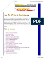 how to write a good survey questionnaire