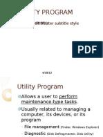 Utility Program
