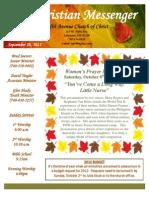 September 26 Newsletter