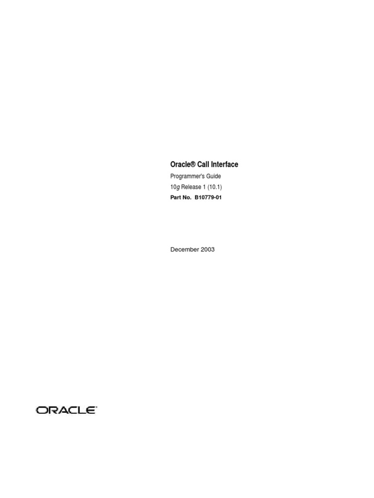 Oracle Call Interface Programmer Guide | Pl/Sql | Parameter