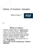 History of Customs Valuation