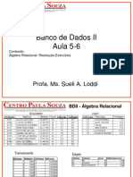 FATEC-SBC BDII Aula5-6 AlgebraRelacional ResolucaoExerc