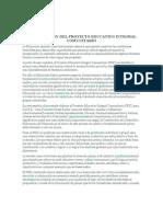 CONSTRUCCIÓN DEL PROYECTO EDUCATIVO INTEGRAL COMUNITARIO
