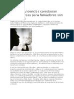 Nuevas evidencias corroboran que las áreas para fumadores son ineficaces