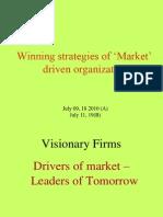 Winning Strategies of Market Driving Organization L1(2)