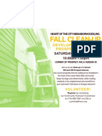 Fall Clean-Up Development Day Flyer