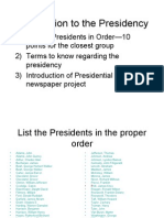 Introduction to the Presidency