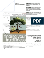 Fruitfulness 10 Psalm 39-4-5 Handout 100911