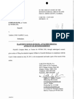 Filed Copy of Robinson Affidavit - Wells Fargo has finally admitted that the named Plaintiff does not actually exist at all