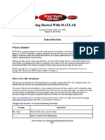 Getting Started With MATLAB - David Hart