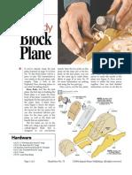 Brass-Body Block Plane - August Home Publishing