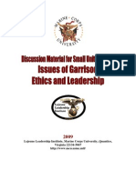 Issues of Garrison Ethics and Leadership