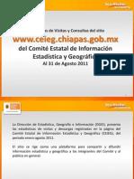Reporte de estadísticas del sitio Web del CEIEG enero-agosto 2011