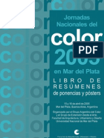 Jornadas Nacionales del Color 2005 en Mar del Plata. Libro Digitalizado