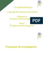 Fases de la investigación - La propuesta