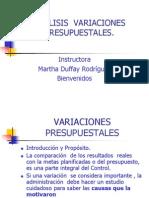 Analisis Variaciones Presupuestales Dufay